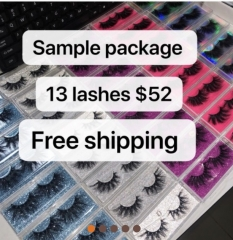 LASHES SAMPLE Package 4d/5D/6D